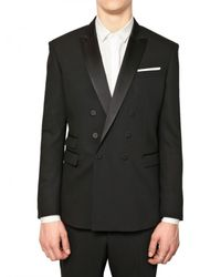 Neil Barrett - Black Tuxedo Wool Crepe Double Breasted Jacket for Men - Lyst