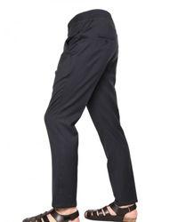 Neil Barrett | Blue Patterned Wool Canvas Trousers for Men | Lyst