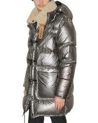 Paul Smith | Gray Fur Collar Aluminium Down Jacket for Men | Lyst
