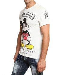 Philipp Plein - White Mickey Mouse Swarovski Jersey T-shirt for Men - Lyst