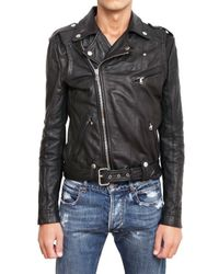 Balmain | Black Kiodo Leather Jacket for Men | Lyst