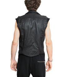 Balmain | Black Waxed Cotton Gabardine Kiodo Vest for Men | Lyst