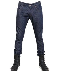 Balmain | Blue 17cm Super Skinny Stretch Denim Jeans for Men | Lyst