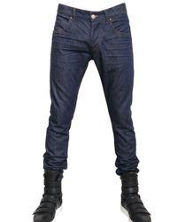 Balmain - Blue 17cm Super Skinny Stretch Denim Jeans for Men - Lyst