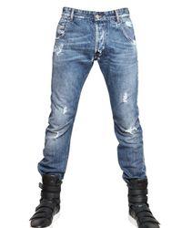 Balmain - Blue 18cm Engineered Denim Jeans for Men - Lyst