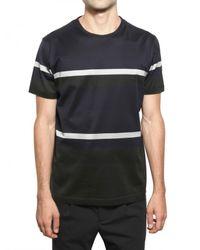 Pringle of Scotland - Blue Cotton Stripes T-shirt for Men - Lyst