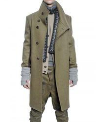 Pringle of Scotland | Green Wool Felt Coat for Men | Lyst