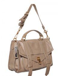 Proenza Schouler | Gray Ps1 Medium Lux Leather Satchel | Lyst