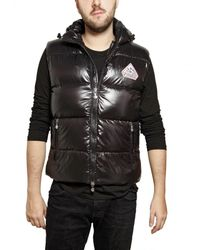 Pyrenex | Black Sleeveless Nylon Laque Down Jacket for Men | Lyst