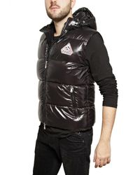 Pyrenex | Black Sleeveless Nylon Laque Down Jacket for Men | Lyst