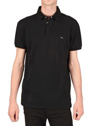 Ralph Lauren | Black Piquet Metal Logo Polo for Men | Lyst