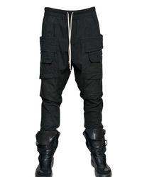 Rick Owens - Black Cotton Poplin Trousers for Men - Lyst