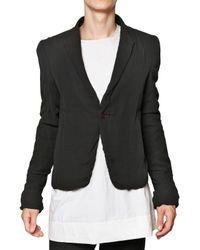 Rick Owens   Black Silk Georgette On Silk Twill Short Jacket for Men   Lyst