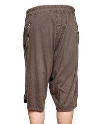 Rick Owens | Brown Poplin Waistband Cotton Jersey Shorts for Men | Lyst