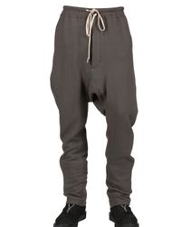 Rick Owens - Gray Wool Crepe Trousers for Men - Lyst