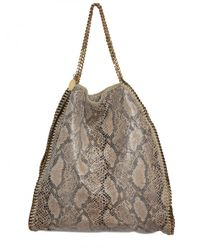 Stella McCartney | Brown Eco Python Falabella Shoulder Bag | Lyst