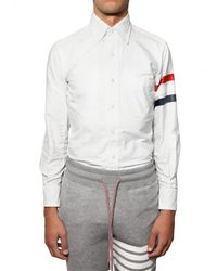 Thom Browne | White Classic Fit Oxford Cotton Shirt for Men | Lyst