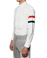 Thom Browne - White Classic Fit Oxford Cotton Shirt for Men - Lyst