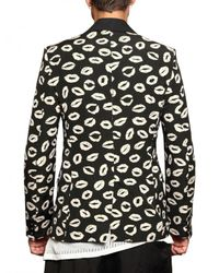 Tom Rebl - Black Lips Jacquard Cotton Canvas Jacket for Men - Lyst