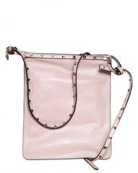 Valentino | Natural Pink Rockstud Camera Bag | Lyst