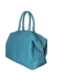 Saint Laurent - Blue Easy Top Medium Leather Top Handle - Lyst