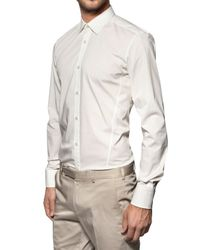 Z Zegna | White Stretch Cotton Shirt for Men | Lyst