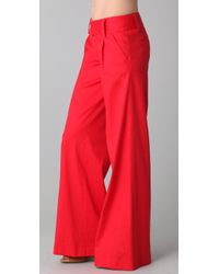 Alice + Olivia | Red Eric Pants | Lyst