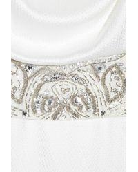 Antik Batik - White Clea Embellished Hammered Silk-satin Gown - Lyst