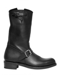 Balmain | Black Double Belted Leather Boots for Men | Lyst