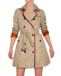Burberry Brit | Natural Bromsteadspsc Cotton Gabardine Trench Coat | Lyst