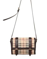 Burberry | Brown Doyle Check Shoulder Bag | Lyst