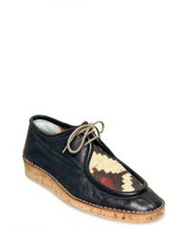 Burberry Prorsum | Black Calfskin and Tapestry Jacquard Lace-up S for Men | Lyst