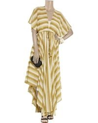 By Malene Birger | Brown Gema Striped Cotton-blend Maxi Dress | Lyst