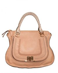 Chloé | Natural Large Marcie Lock Top Handle | Lyst