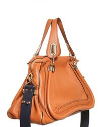 Chloé | Brown Paraty Military Strap Top Handle | Lyst