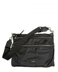 Dolce & Gabbana - Black Nylon Shoulder Bag for Men - Lyst