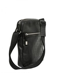 Dior Homme | Black Logo Jacquard Waxed Canvas Bag for Men | Lyst