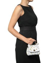Dolce & Gabbana | White Patent Micro Miss Sicily Top Handle | Lyst