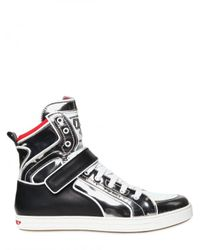 DSquared² - Black Mirrored High Top Calf Sneakers for Men - Lyst