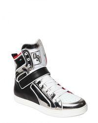 DSquared² | Black Mirrored High Top Calf Sneakers for Men | Lyst