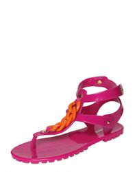 DSquared² - Purple Rubber Chain Flats - Lyst