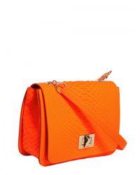 Emilio Pucci   Orange Marquise Python Shoulder Bag   Lyst