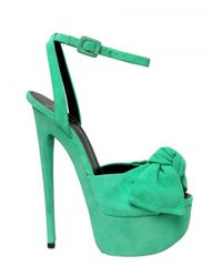 Giuseppe Zanotti | Blue 160mm Suede Bow Sandals | Lyst