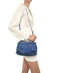Givenchy - Blue Pandora Mini Washed Leather Shoulder Bag - Lyst