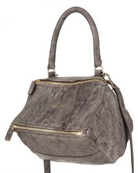 Givenchy | Gray Washed Leather Pandora Small Shoulder Bag | Lyst