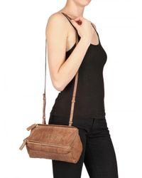 Givenchy - Brown Washed Leather Mini Pandora Shoulder Bag - Lyst