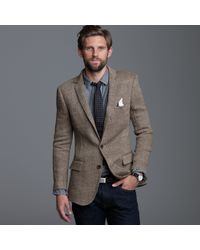 J.Crew | Brown Linen Herringbone Sportcoat in Ludlow Fit for Men | Lyst