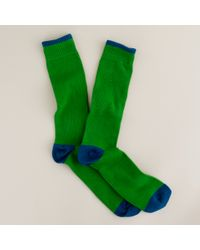 J.Crew | Green Two-Color Tipped Cotton Socks for Men | Lyst