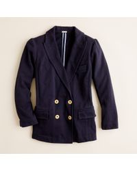 J.Crew | Blue Double-breasted Gold-button Blazer | Lyst