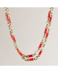 J.Crew - Red Nested Enameled Necklace - Lyst